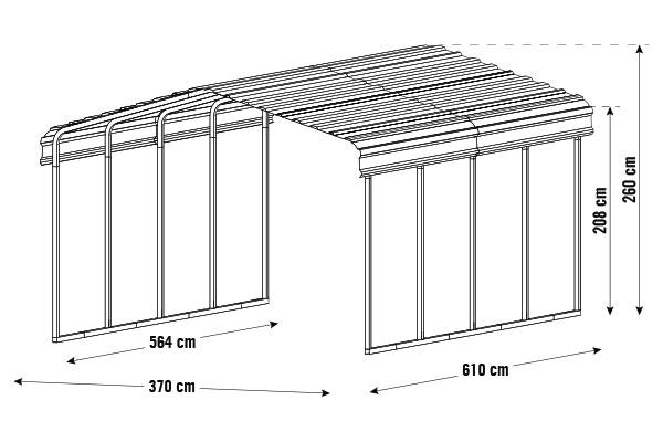 arrow carport kaufen bei shelterstore. Black Bedroom Furniture Sets. Home Design Ideas